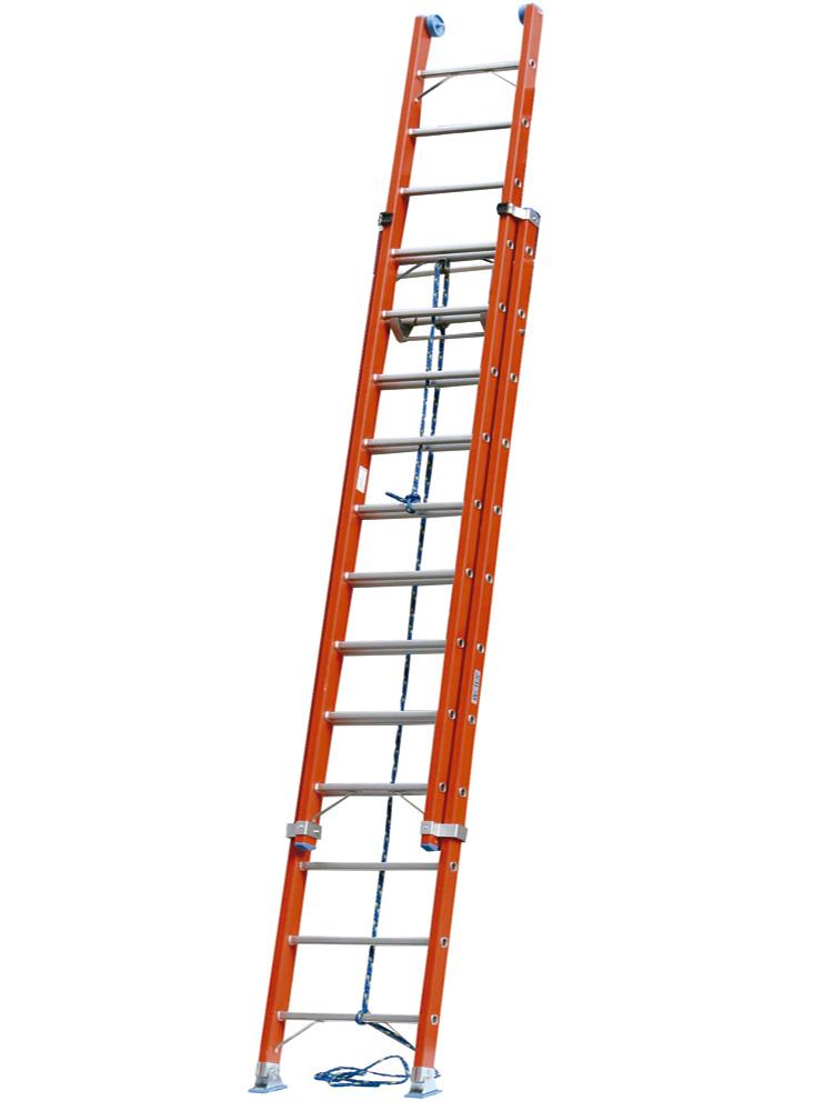 Escalera de fibra de vidrio dos tramos con cuerda mundo c es - Escalera de cuerda ...