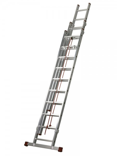 Escalera aluminio tres tramos con cuerda mundo c es for Escaleras tres tramos