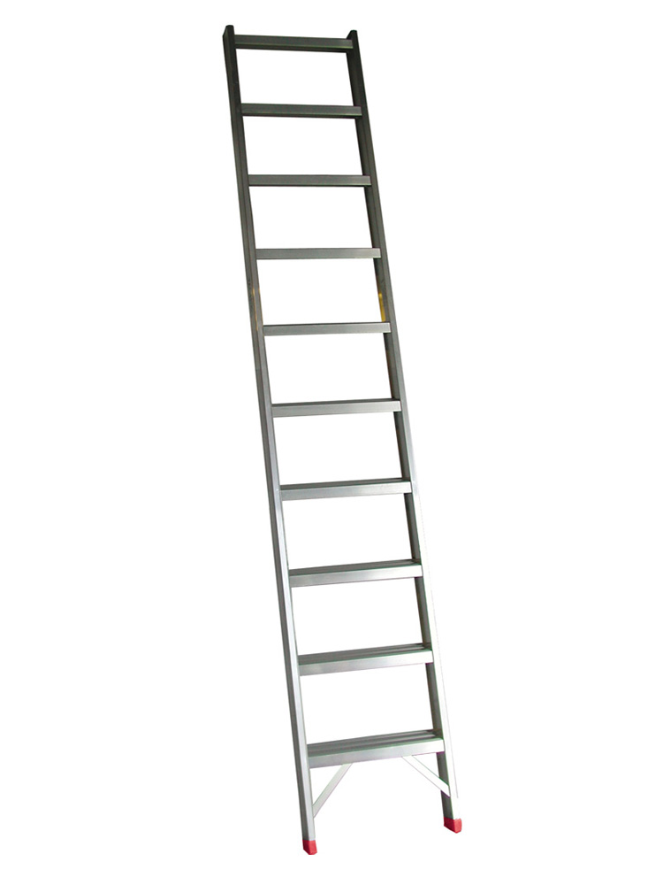 Escalera de aluminio de 1 tramo de pelda o plano mundo c es for Plano escalera madera
